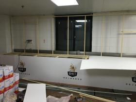 糖酒会,后厨改建展厅,木结构加KT板
