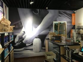 店铺形象墙PVC裱画